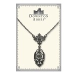 Downton Abbey® Jet Filigree Drop Necklace
