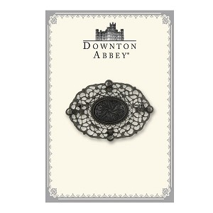 Downton Abbey® Jet Floral Lace Brooch