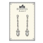 Downton Abbey® White Diamond Crystal Linear Drop Earrings