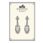 Downton Abbey® Crystal Accent Silver Pave Drop Earrings