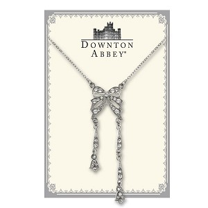 Downton Abbey® Sterling Bow Crystal Drop Necklace