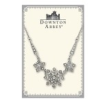 Downton Abbey® White Diamond Sterling Starburst Necklace