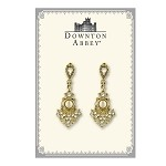 Downton Abbey® Elegant Crystal and Pearl Drop Earrings