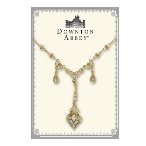 Downton Abbey® Crystal Drops Gold Necklace