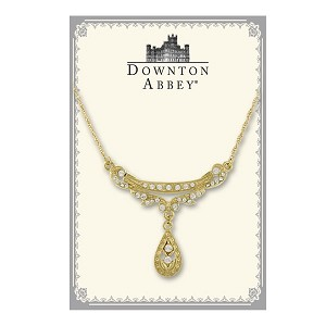 Downton Abbey® Gold Pear Drop Collar Necklace