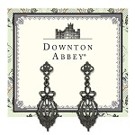 Downton Abbey® Jet Bow Drop Filigree Earrings