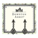 Downton Abbey® Jet Jewled Fan Drop Earrings