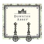 Downton Abbey® Jet Long Fan Drop Earrings