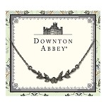 Downton Abbey® Jeweled Jet Leaf Collar Necklace