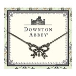 Downtown Abbey® Jeweled Jet Bow Necklace