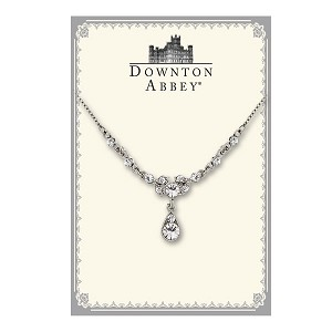 Downton Abbey® Sparkling Crystal Sterling Drop Necklace