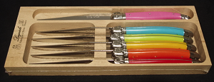 Laguiole 6 Pc. Steak Knives Set in Mixed Colors