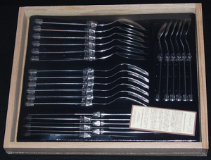 Laguiole 24 Piece Cutlery Set - Black SHIPS FREE