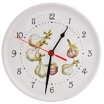 Garlic Kitchen Clock