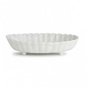 Bella Bianca Ribbon Shallow Serving Bowl