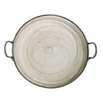 Arte Italica Splendore Round Platter with Handles