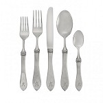 Sara Monogram 5-Piece Flatware Place Setting