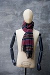 Linen/Cotton Irish Woven Plaid Scarf 2
