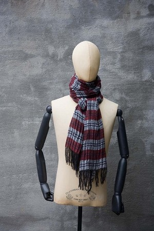 Linen/Cotton Irish Woven Plaid Scarf 3