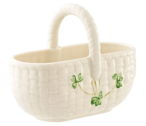 Shamrock Basket Sugar Holder