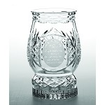 Galway Crystal Irish Blessing Hurricane Lamp