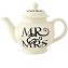 Black Toast Mr and Mrs 4 cup Teapot Boxed