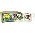 Year in the Country Winter Flowers set/2 1/2 Pint Mugs Boxed