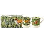Fox and Pheasant set/2 1/2 Pint Mugs Boxed