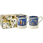 Owls Set/2 1/2 Pint Mugs Boxed