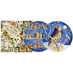 "Owls Set/2 8.5"" Plates Boxed"