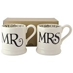Black Toast Mr and Mrs 1/2 Pint Mug Set