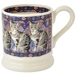 Cat Silver Tabby 1/2 Pint Mug