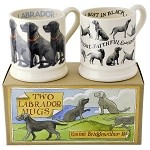 Dogs, Black Labradors set/2 Mugs