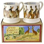 Rabbit and Hare Set/2 Mugs
