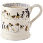 Dogs, All Over Terrier 1/2 Mug