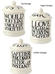 Black Toast & Marmalde Storage Jars 1 Pint