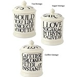 Black Toast  and  Marmalde Storage Jars 1 Pint