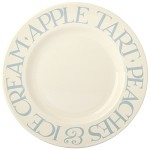"Pale Blue Toast 8.5"" Lunch Plate"
