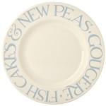 "Pale Blue Toast 10.5"" Dinner Plate"