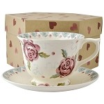 Rose and Bee Large Teacup/Saucer Boxed