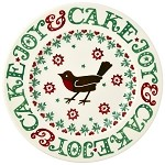 Christmas Joy Robin 8.5 in Plate Retired Style