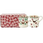 Christmas Joy Robin  and  Joy Star 1/2 pint  Mug Set/2 RETIRED