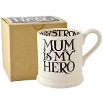 Black Toast Mum 1/2pt Mug Boxed - Mum is My Hero