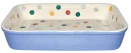 Polka Dot Blue Large Baker