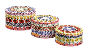 Flowers Cake Tins Set/3
