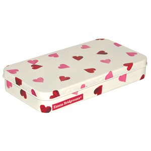 Pink Hearts Stationery Box