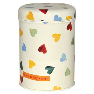 Polka Hearts Round Caddy