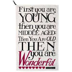Black Toast First You Were Young Tea Towel