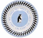 "Penguin in a Snowstorm 8 1/2"" Plate"