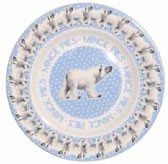 "Polar Bear in a Snowstorm 8 1/2"" Plate"